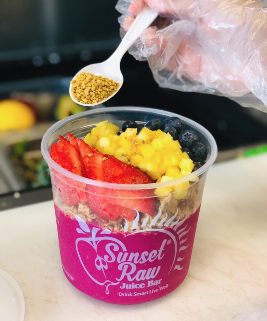 Sunset Raw Juice Bar Smoothie Bowl